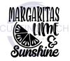 Margaritas Lime and Sunshine Alcohol Designs