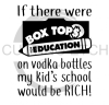 If There were Box Tops for Education on Vodka Bottles  Alcohol Designs