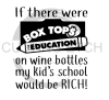 If There were Box Tops for Education on Wine Bottles  Alcohol Designs