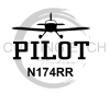 Pilot with Call Number Aviation Designs