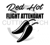 Flight Attendant Red Hot Aviation Designs