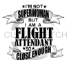 Flight Attendant Super Woman Aviation Designs