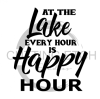At the Lake Every Hour is Happy Hour Beach Lake Summer