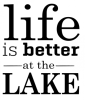 Life is Better at the Lake Boating Designs