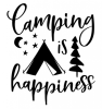 Camping is Happiness Camping Designs