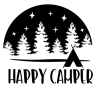 Happy Camper Silhouette Camping Designs
