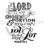 The Lord is My Chosen Portion Faith Designs
