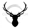 Elk Head Silhouette Fishing and Hunting Designs