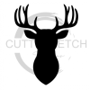 Deer Head Silhouette Fishing and Hunting Designs
