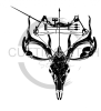 Bow and Skull Fishing and Hunting Designs