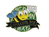 Bright Gold Educational Spelling Bee Lapel Pin Lapel Pins