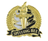 Bright Gold Academic Spelling Bee Lapel Pin Lapel Pins