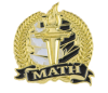 Bright Gold Academic Math Lapel Pin Lapel Pins