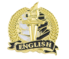 Bright Gold Academic English Lapel Pin Lapel Pins