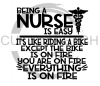 Being a Nurse is Easy Medical Designs