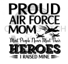 Proud Air Force Mom Military Designs