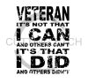 Veteran It's Not That I Can and Others Can't Military Designs