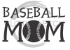 Baseball Mom 4 Mom Designs