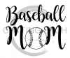 Baseball Mom 1 Mom Designs