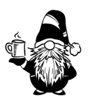 Gnome with Coffee Cup ! ALL NEW DESIGN ARRIVALS!