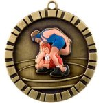 3-D IM Medals -Wrestling 3-D Series Medal Awards