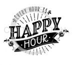 Every Hour is Happy Hour 3 Alcohol Designs