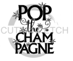 Pop the Champagne Alcohol Designs