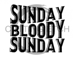 Sunday Bloody Sunday Alcohol Designs