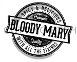 Bloody Mary Logo Alcohol Designs