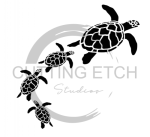 Sea Turtles Swimming Animal Designs