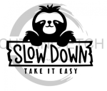 Sloth Slow Down Animal Designs