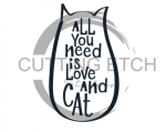 All You Need is Love and a Cat Animal Designs