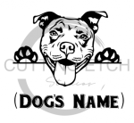 Pit Bull with Name Animal Designs