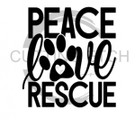 Peace Love Rescue Animal Designs