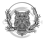 Owl Mandala Wreath Animal Designs