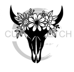 Floral Cow Skull Animal Designs