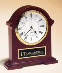 Napoleon Mantle Clock with Hand-rubbed Mahogany Finish Arch Awards