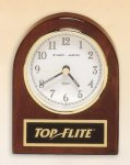 Rosewood Piano Finish Desk Clock Arch Awards