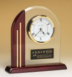 Arched Clock with Rosewood Piano Finish Post and Base Arch Awards