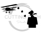 Dog on Doghouse Silhouette  Aviation Designs