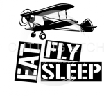 Eat Fly Sleep  Aviation Designs