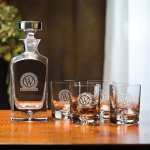 Deluxe Decanter Set, 5-Piece Barware Stemware