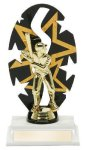 Backdrop Trophy -Baseball Male  Baseball Trophy Awards