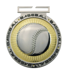 Dual Plated Medallion -Baseball Baseball Trophy Awards