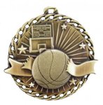 Burst Thru Medal -Basketball  Basketball Trophy Awards