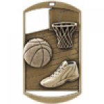 Dog Tag Medals -Basketball Basketball Trophy Awards