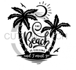The Beach is Calling and I Must Go Double Palm Trees Beach Lake Summer