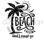 The Beach is Calling and I Must Go Single Palm Tree Beach Lake Summer