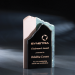 High Touch Modern Black Optical Crystal Awards