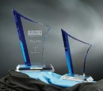 Vertigo Blue Optical Crystal Awards